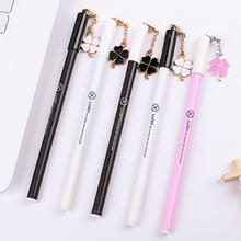 0.5mm Clover pendant Gel Ink Pen Marker Pen School Office stationery Supply Escolar Papelaria Student 1 pcs creative botanic cactus cartoon gel pen black ink 0 5mm signing pen school office supply gift stationery papelaria escolar