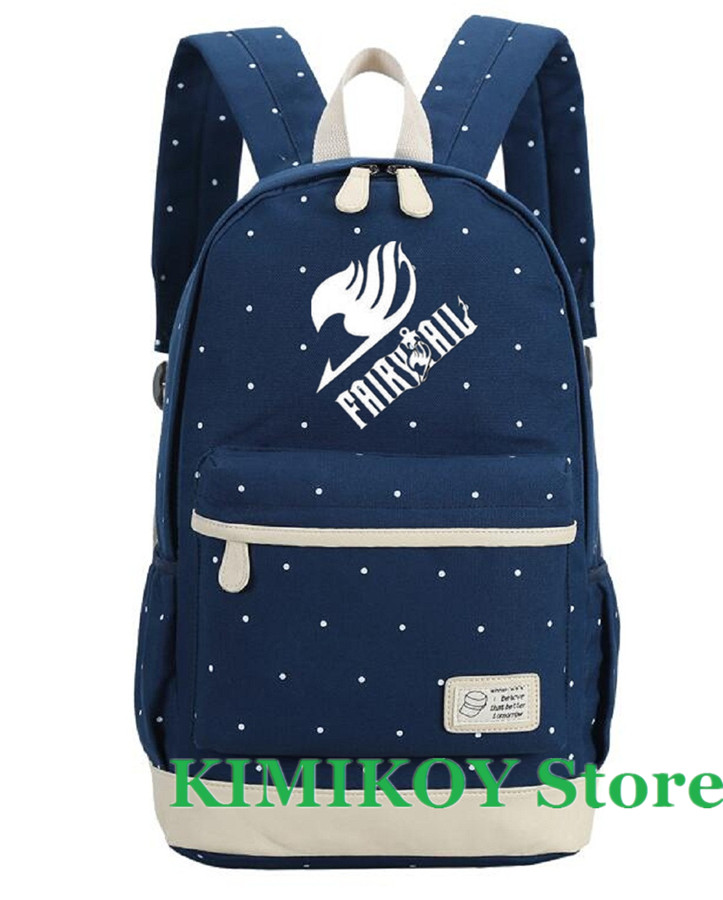 afcfaf1b83ec US $28.88 |Kimikoy Anime Fairy Tail Cosplay Luminous Backpack Wave Point  Flower Laptop Bookbag School Bag travel bags Daypack for Teenagers-in ...