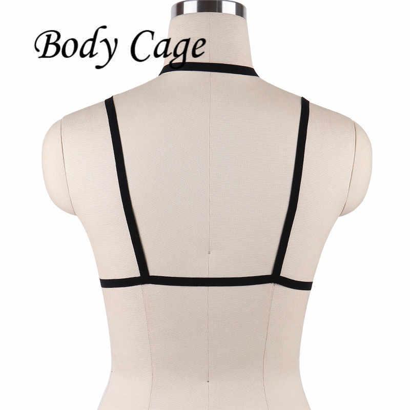 ボディケージセクシーなパステルゴスストラップバストガーターベルトパンク摩耗女性ligueroスーツランジェリー女性のバストドレスセットボンデージ小売新しい
