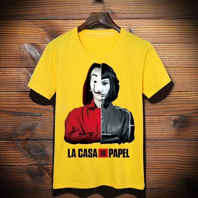 MUSH T-Shirt LA CASA di Carta Serie TV DAL/Ì Mask Film by Dress Your Style