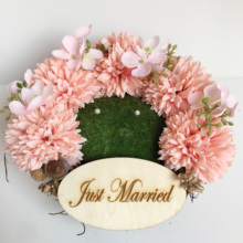 1pcs lot Custom name Forest Rustic Pink flower Nest Ring holder Engagement photo props Wedding Marriage bearer Pillow