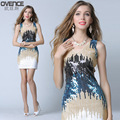 Performance clothing new sequins modern dance opening dance Latin dance fashion package hip skirt do190