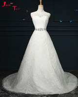 Jark Tozr High Neck Off The Shoulder Open Back Bridal Gowns White Lace Princess A Line