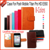 AiLiShi New Arrive PU Leather Case Book Flip 8-Colors Wallet Protective Cover Skin For Posh Mobile Titan Pro HD E550 Case Hot
