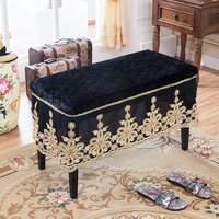 Piano stool cover shoe bench stool cover makeup stool cover European lace dining chair seat cover