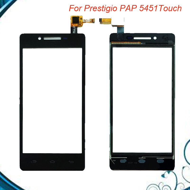 Tested OK Touch Panel Front Glass Sensor For Prestigio Multiphone PAP 5451 DUO PAP5451 Tape Touch Screen 5pc/lot IN Stock