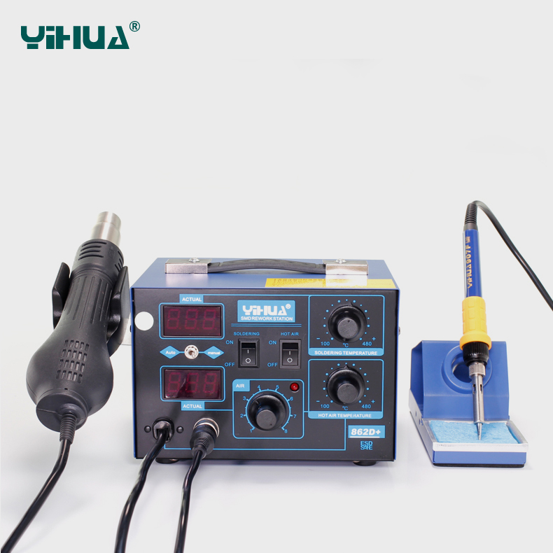 Aliexpress.com : Buy YIHUA 862D+ 2 In 1 ESD Hot Air Gun Soldering ...