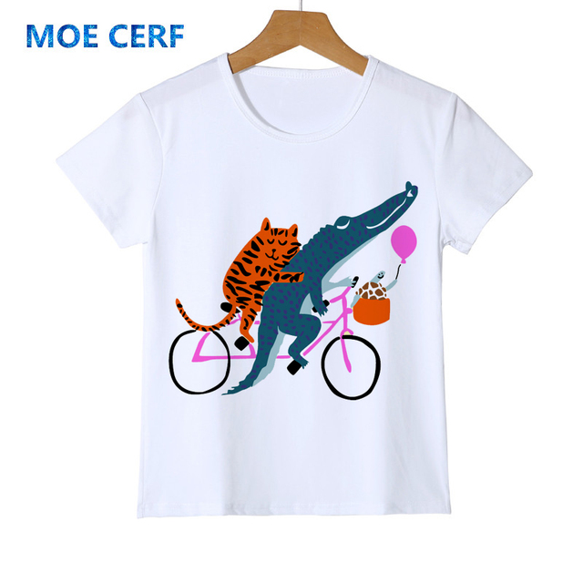 New kids designed summer t shirt Cute little girl with giraffe top quality clothing Hot selling baby girl cartoon t shirt Y14-90