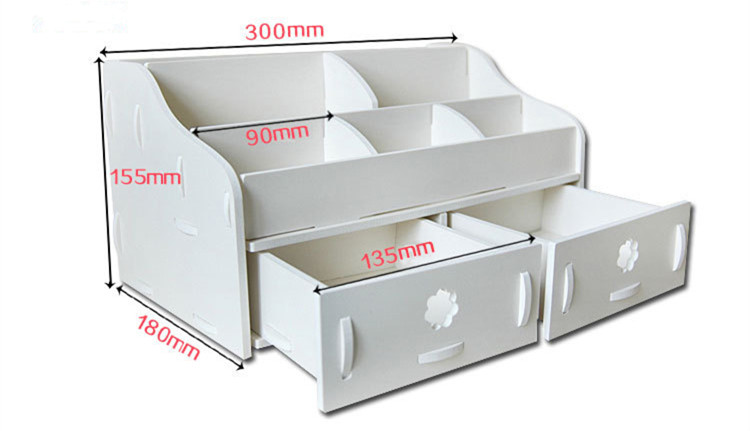 Aliexpress.com : Buy White Waterproof Makeup Storage Box Wood Plastic Plate  Cosmetic Box Jewelry Box Bathroom Storage Box 7 Grid Free Shipping From  Reliable ...