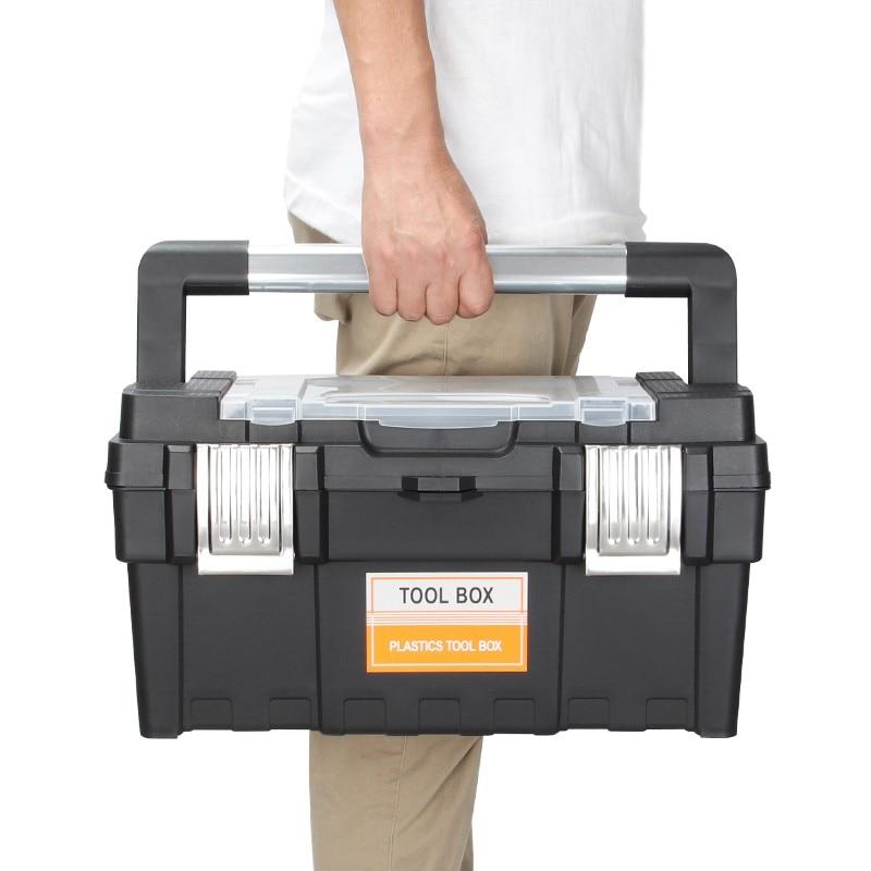PromoteCase Hardware-Parts-Box Storage-Box Repair-Tool Multi-Function Large Anti-Fall Portableπ