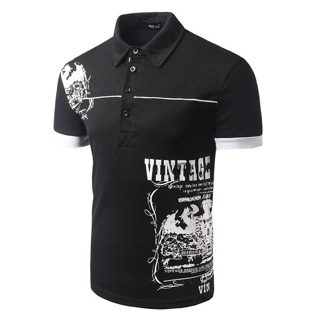 Новых Людей Прибытия Печати Англии Стиль Polo Рубашки С Коротким Рукавом Мужчины Повседневная Slim fit Дизайн Одежды Polo Высокое Качество