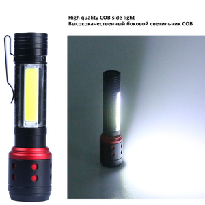Image 5 - Portable MINI LED Flashlight With COB Side light 4 lighting modes XPE lamp beads Lighting 150 meters Powered by AA batteries