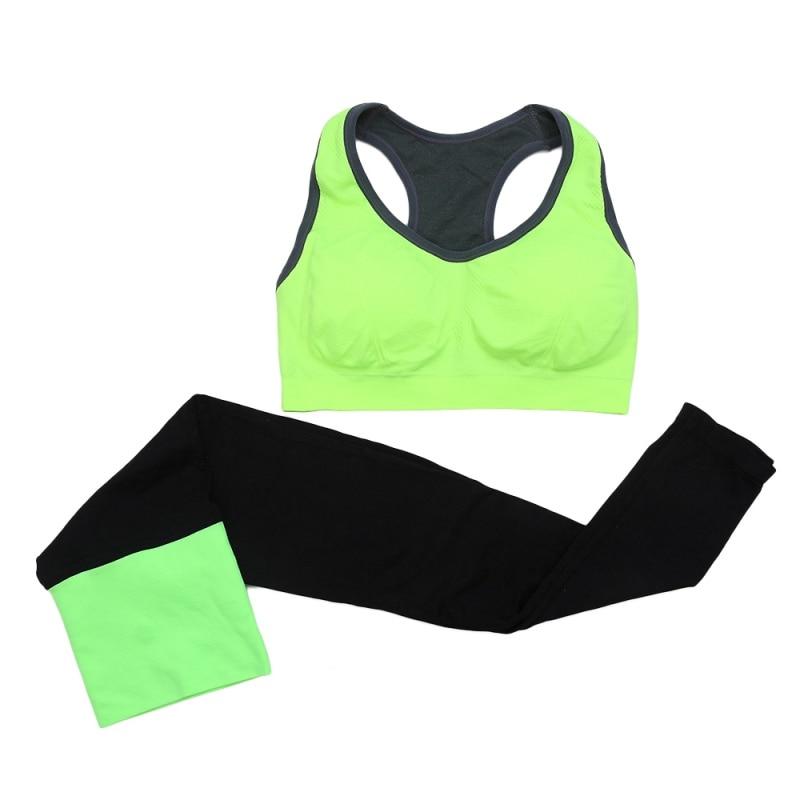 Women Seamless Sports Bra+Pants Leggings Set Yoga Fitness Running Gym Training Exercise Tracksuit Accessories 2pcs