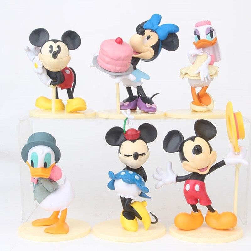 6 Tamaño Donald Dibujos Animados Unidsset Cm Grande Minnie Mouse 12 Cumpleaños Mickey Disney Pato 08vmnOyNw