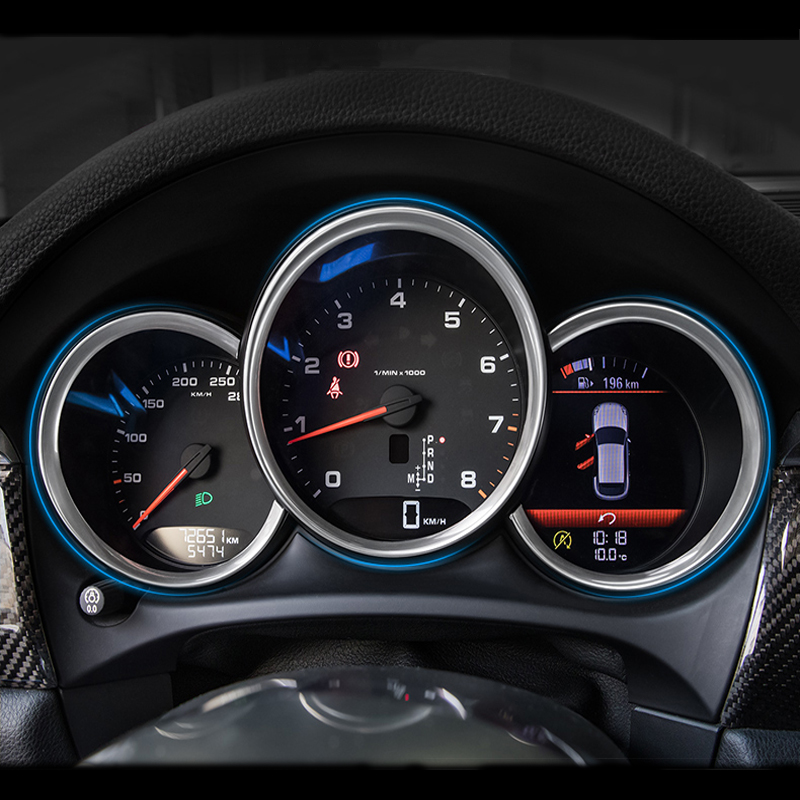 Car styling dashboard decorative light strip cover frame Stickers for Porsche Macan Cayman Boxster Panamera cayenne