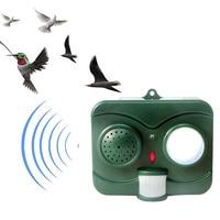 Solar Acousto Optic Bird Repeller Deterrent Ultrasonic Wave Birds Pest Repellent HG99