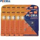 50Pcs/10Card x G3 Button Batteries PKCELL 1.5V AG3 LR41 LR192 V3GA SR41 192 392 SR736 Alkaline Button Coin Watch Battery