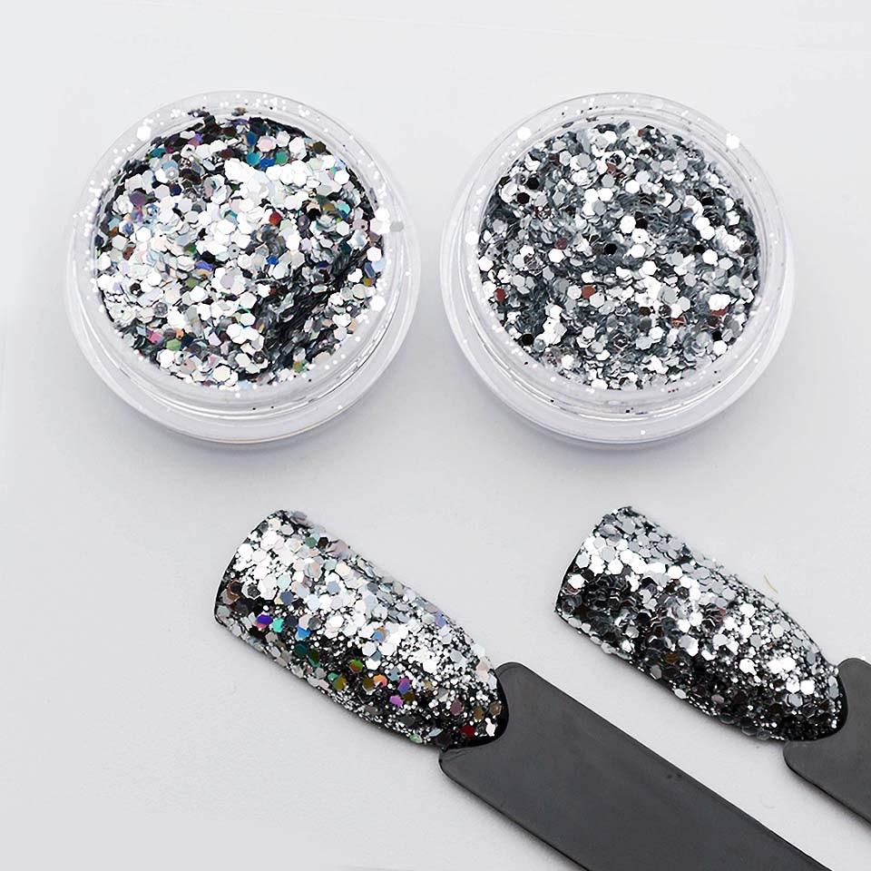 Aufrichtig Silber Pailletten Nagel Glitter Pulver Staub Lametta Für Nägel Flitter Für Nägel Pailletten Nail Art Uv Glitter Pulver Sf2050 Nagelglitzer Nails Art & Werkzeuge
