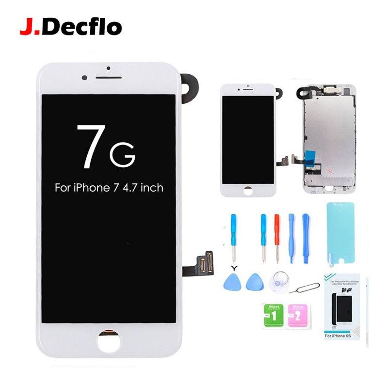 No Dead Pixel Display LCD Per il iphone 7 7g Set Completo con 3D di Tocco Digitale Dello Schermo di Ricambio Del Telefono & fotocamera frontale e Strumenti Gratuiti