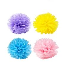 5pcs/lot 20cm(8 inch) Tissue Paper pom Poms Wedding Party Paper pompom Flower For Wedding Decoration pompoms pom pom