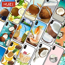 KUZI Beach Style Fruit Print Luxury Case for IPhone X XS 8 7 6 6s Coque Iphone Plus TPU Silicone Phone 2019 New