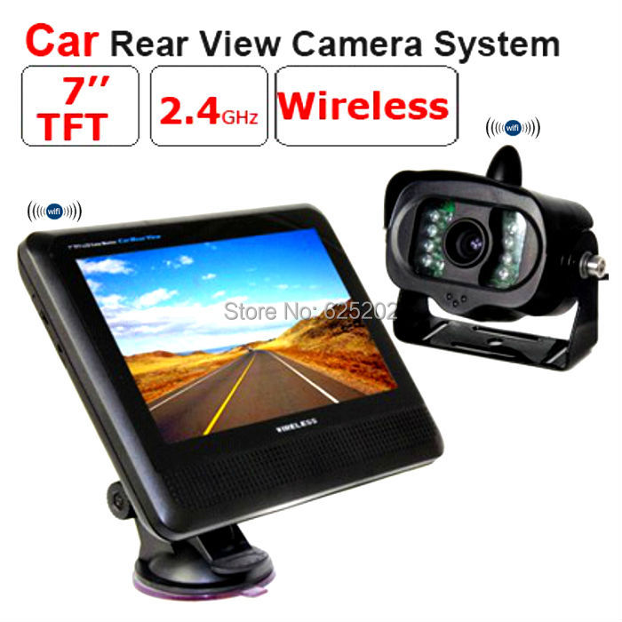 2.4G car rear view wireless camera system with monitor2.4G car rear view wireless camera system with monitor