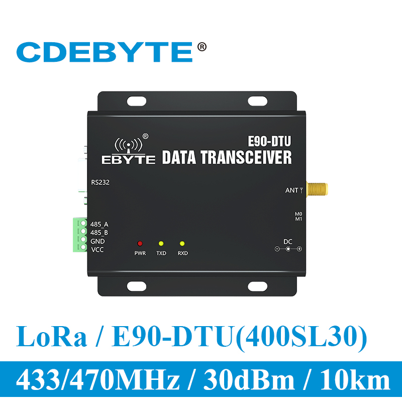 E90 DTU 400SL30 LoRa 30dBm Modem RS232 RS485 433MHz RSSI Relay IoT vhf Wireless Transceiver Module RF Transmitter and Receiver-in Communications Parts from Cellphones & Telecommunications