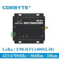 E90-DTU-400SL30 lora 30dbm 모뎀 rs232 rs485 433 mhz rssi 릴레이 iot vhf 무선 트랜시버 모듈 rf 송신기 및 수신기