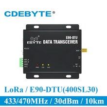 E90 DTU 400SL30 lora 30dbm modem rs232 rs485 433mhz rssi relé iot vhf módulo transceptor sem fio rf transmissor e receptor