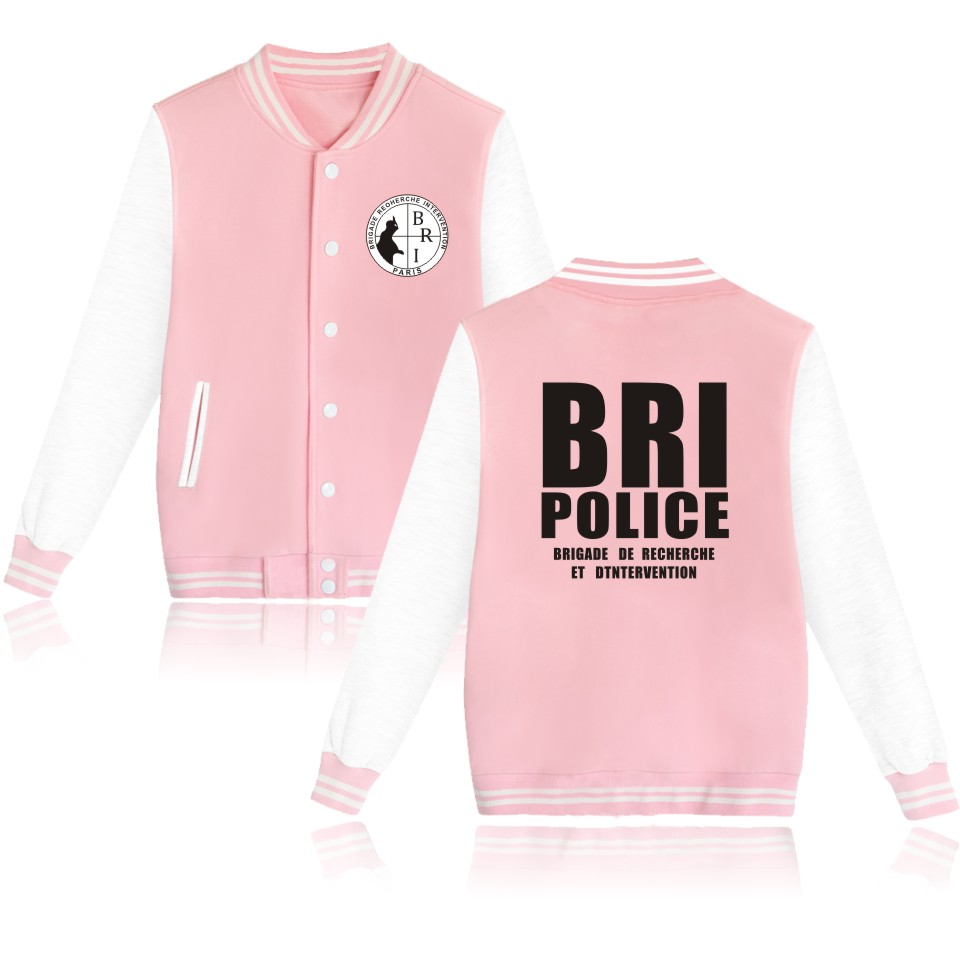 2018 GIGN Gendarmerie BRI Police Baseball Jackets women Casual Unisex Sweatshirts Hoodies Kpop Men/Women Jacket Fashion Clothes