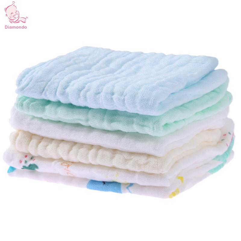 6pcs/Set Baby Burp Cloths Soft Cartoon Baby Children Absorbent Cotton Feeding Saliva Towel Kids Face Hand Washing Towel Cute