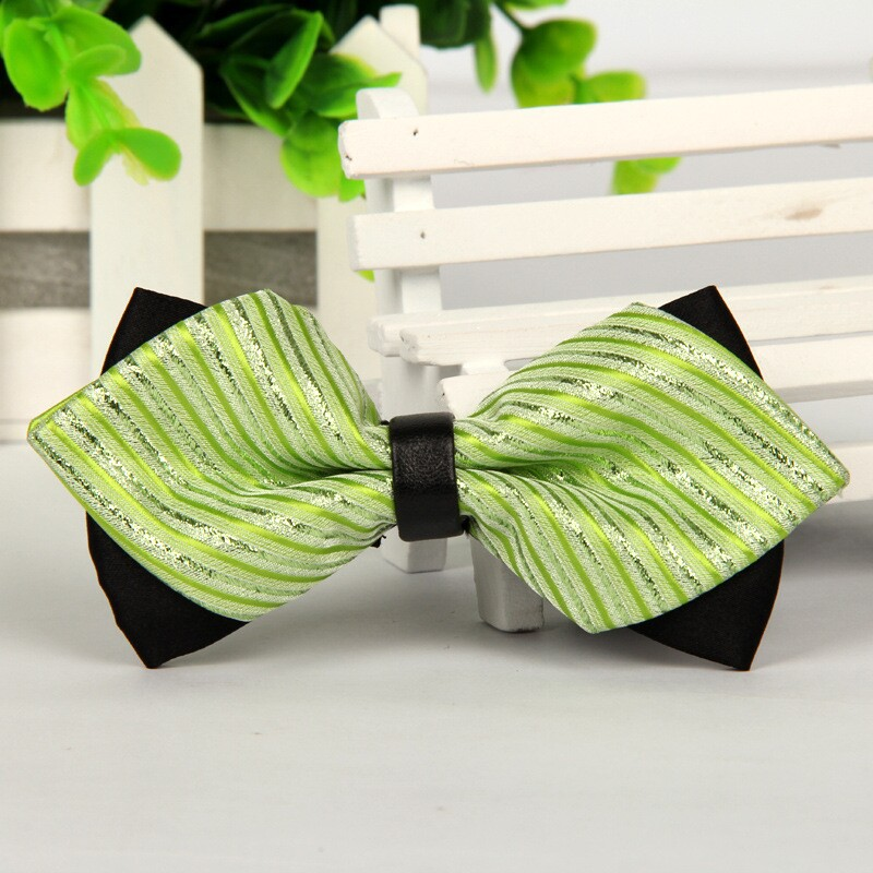 Pointed Men Green Silk Bow Ties 2014  Butterfly Tie No Minimum Order Lot Bulk Lot Wholesale