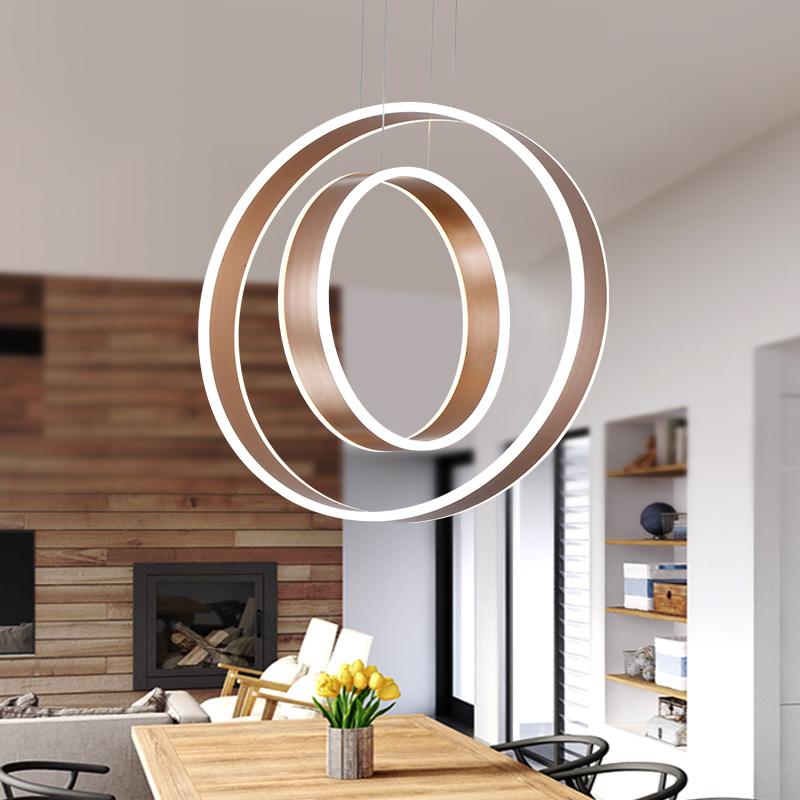 circel anillos modernos luces colgantes para comedor saln acrlico cerchio anello lampadario lmpara colgante lamparas modernas