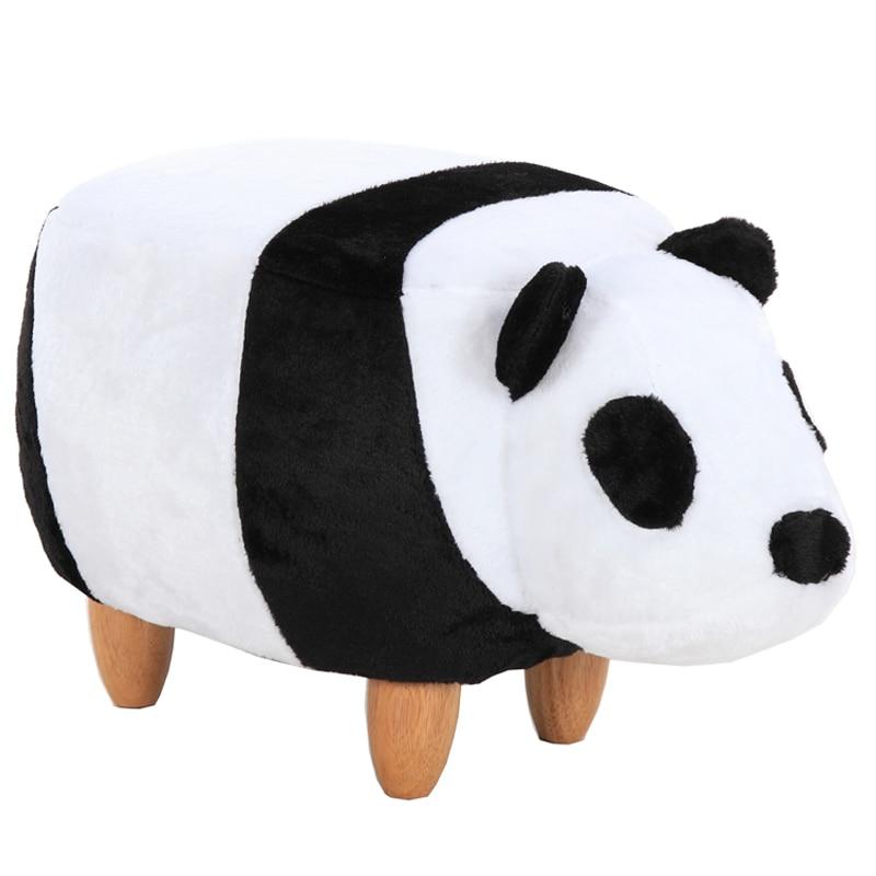 Panda Творческий обувь стул массивной древесины ноги личность дома сидел pier моделирование животных pet обувь стул