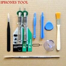 Мобильный телефон Ремонт Инструменты Отвертки Комплект для iPad4 iPhone 5 4S 3GS 10 в 1