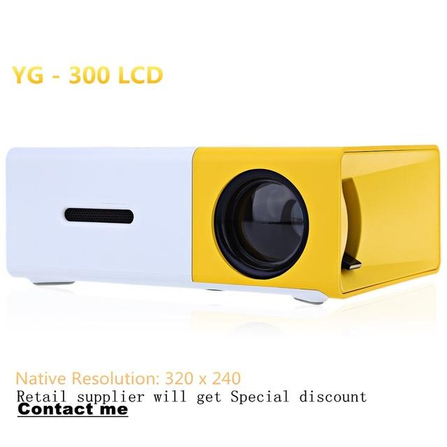 Mini Projetor de Prováveis Concisa Compacto Eficiente YG300 YG-300 LCD Projetor 400-600 LM 320x240 Pixels Casa Inteligente Media Player