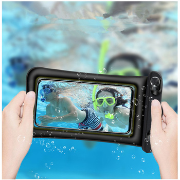 6 Inch Float Airbag Waterproof Swimming Bag Mobile Phone Case Cover Dry Pouch 10