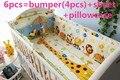 Promoción! 6 / 7 unids HOT 100% algodón del lecho del bebé cortina berco tope del pesebre del bebé juego de cama, 120 * 60 / 120 * 70 cm