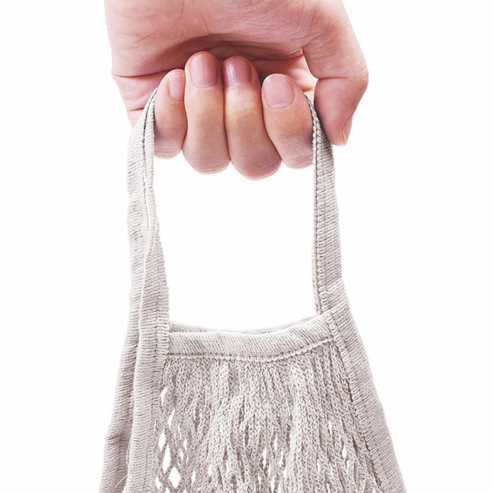 2019 nueva bolsa de malla de tortuga bolsa de la compra con cuerda bolso reutilizable de almacenamiento de frutas bolsas de mujer bolsa de compras bolsa de malla