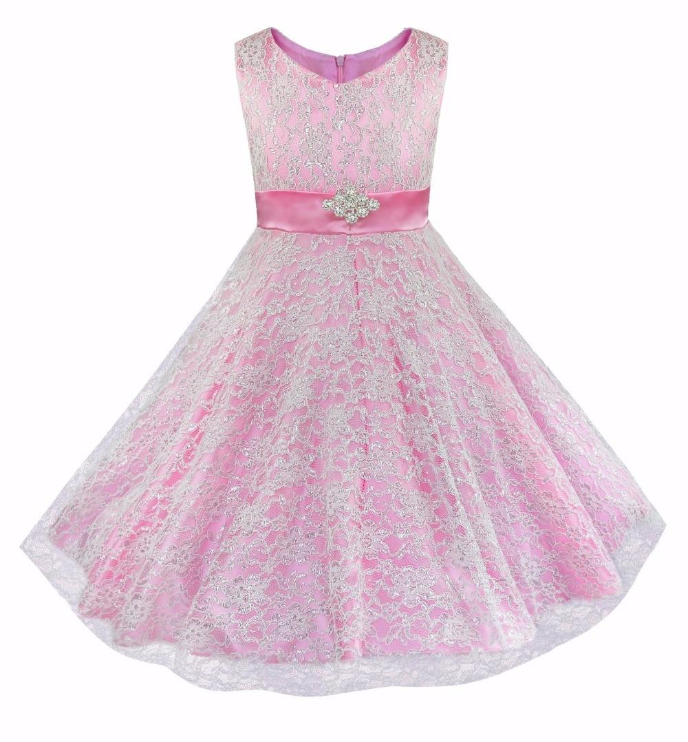 Aliexpress.com : Buy iEFiEL Kids Girls Floral Lace Rhinestone ...
