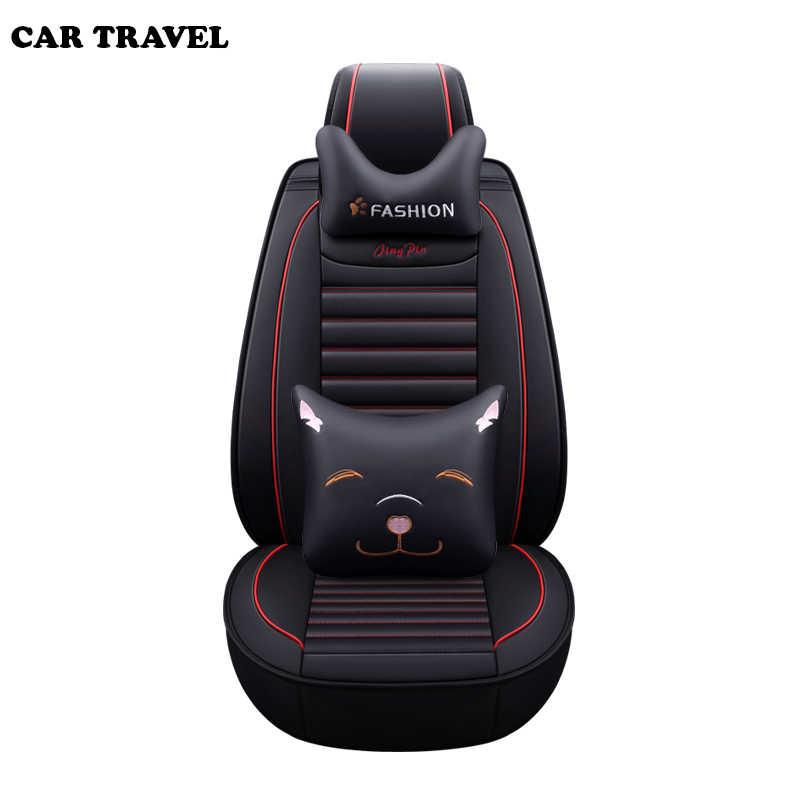 Couverture de siège auto en cuir synthétique polyuréthane de voyage de voiture pour citroën c5 berlingo accessoires c4 couvertures pour sièges de véhicule accessoires de voiture