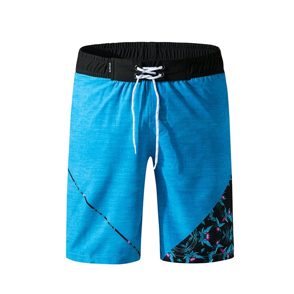 2019 Männer Shorts Badeanzug Badehose Quick Dry Strand Surfen Plus Größe Schwimmen Watershort Sport Homme Strand Shorts Bademode