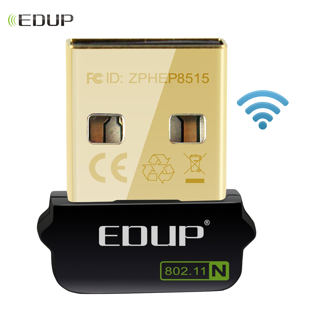 EDUP 150Mbps USB WiFi Wireless Adapter Driver Free For Raspberry Pi Built-in Antenna Wifi Receiver Usb Wireless Adapter For PC