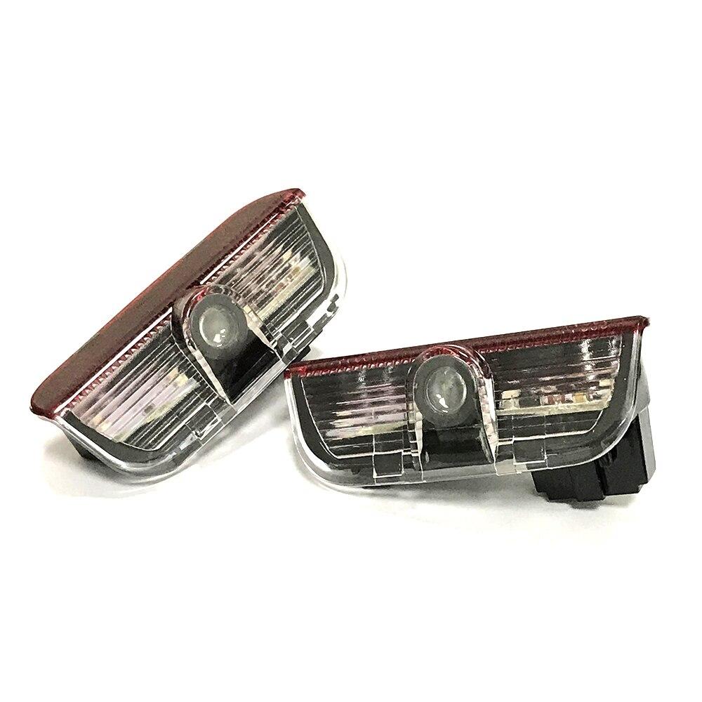 2 pcs LED Logo Porte Lumière Pour Porsche Cayenne 911 Boxster Carrera4 Macan S3 S4 Accessoires De Voiture Bienvenue Ombre Courtoisie lumière