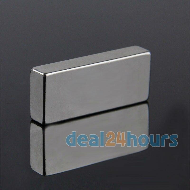 OMO Magnétisme 10 PCS Big Vrac Super Strong Bande Bloc Magnets Rare Earth Néodyme 50x20x10mm N35