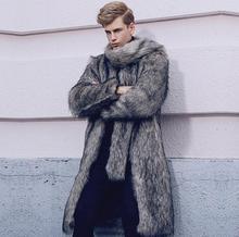 Big faux mink leather jacket mens winter thicken warm fur coat men slim jackets jaqueta de couro fashion autumn tide 6XL