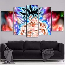 Catoon Canvas Painting Wall Art 5 Panels the Dragon Ball Modern Picture for Living Room Home Decorative Framed Ready to Hang(China)
