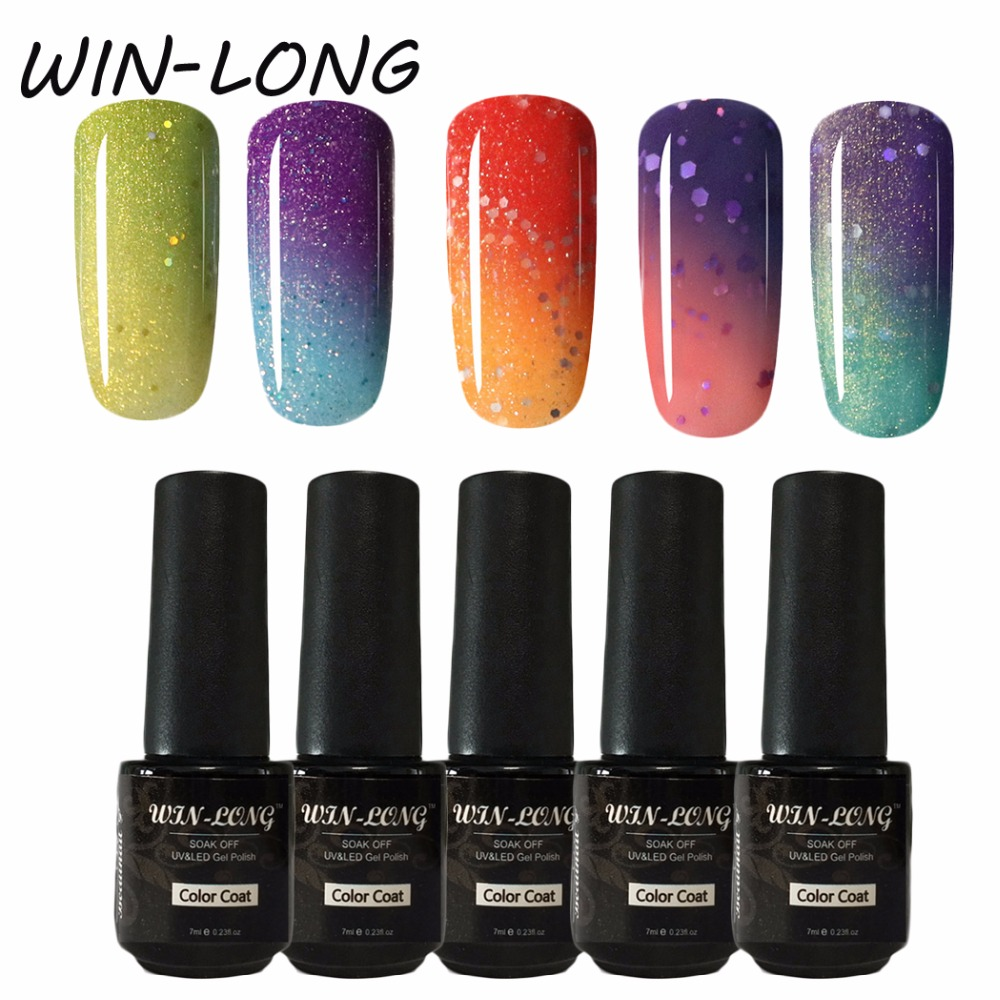 New Candy Color Uv Gel Nail Polish Set 7ml Soak Off Free Shipping