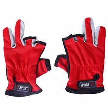 LumiParty Fishing Gloves 3 Low-Cut Fingers Breathable Antiskid Fishing Gloves Outdoor Adjustable Sun Protection Gloves