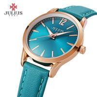 2017 New Luxury Julius Women Watch Fashion Simple Sport Ladies Bracelet Watches Waterproof Genunie Leather Relogio